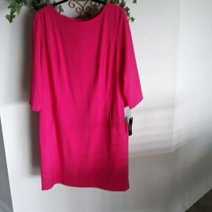 Stunning Pink TAHARI Dress 16 W NWT